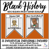 Black History Month Activities: Research and Banner Display