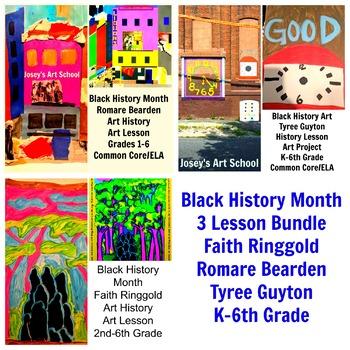 Black History 3 Lesson Bundle Guyton Ringgold Beardon Art Combo Common Core