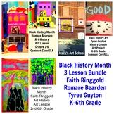 Black History 3 Lesson Bundle Guyton Ringgold Beardon Art