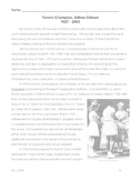 Biography ALTHEA GIBSON Tennis Champ w/ 10 Multiple Choice Comprehension