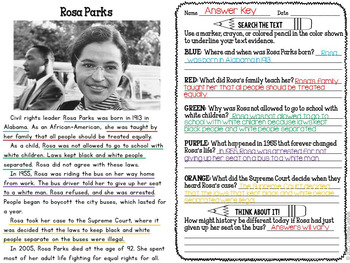 Civil Rights Activities - Reading Passages and More!