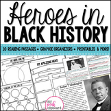 Black History Month - Heroes of Civil Rights Reading Passa
