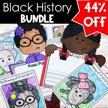 "Black History Activity Bundle Rosa Parks, Ruby Bridges, MLK, Henry ""Box"" Brown"
