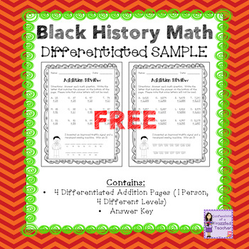 Black History Addition Freebie