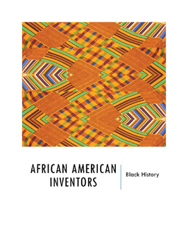 Black History:  African American Inventors