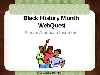 Black History African American Inventors WebQuest