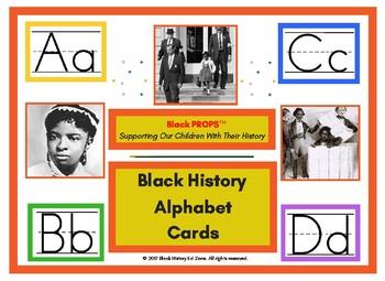 Black History Alphabet Cards
