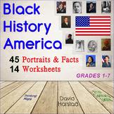 Black History Month: 14 Math & Graphic Organizer Worksheets (Gr. 1-7)