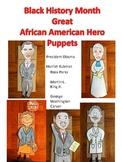 Black History American Hero Puppets