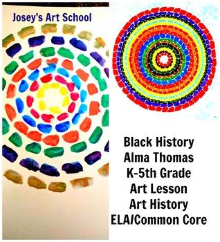 Black History Art Lesson Alma Thomas Grade K-5 Painting Lesson Common Core