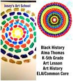 Black History Art Lesson Alma Thomas Grade K-5 Painting Le