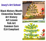 Black History Art Lesson Clementine Hunter Grade 1-6 Painting Lesson Common Core