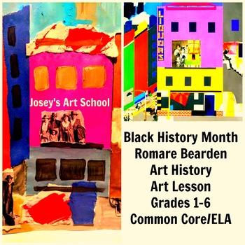 Black History Art Lesson Romare Bearden Grade 1-6 Painting Lesson Common Core