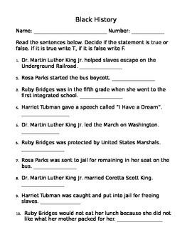 Black History Assessment