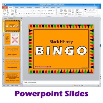 Black History BINGO