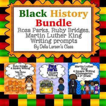 Black History BUNDLE Rosa Parks, Ruby Bridges, Martin Luther King Writing