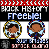 Black History (Barack Obama & Ruby Bridges) FREEBIE