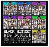 Black History Big Clip Art Bundle {Educlips Clipart}
