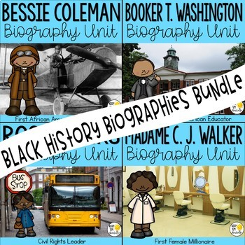 Black History Biographies Bundle