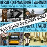 Black History Month Activities: Black History Biographies Bundle