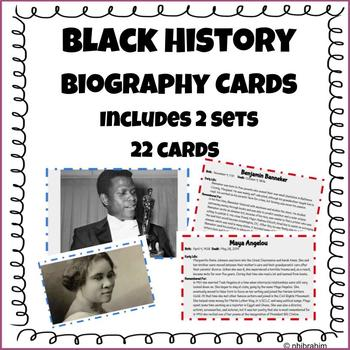 Black History Biography Cards