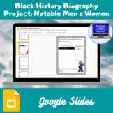 Black History Biography Project: Notable Men and Women (Google Slides)