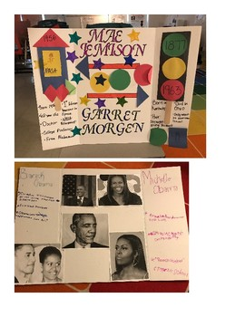 Black History Biography Project (with student examples)