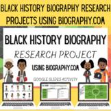 Black History Biography Research Google Slides Activity (l