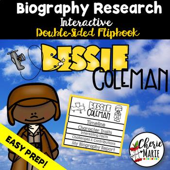 Black History Biography Research Report Flipbbook Bessie Coleman