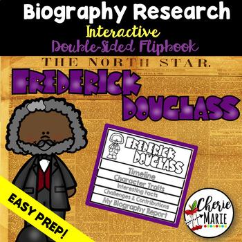 Black History Biography Research Report Flipbbook Frederick Douglass