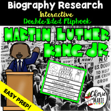 Black History Biography Research Report Flipbbook Martin Luther King Jr.