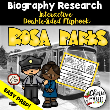 Black History Biography Research Report Flipbbook Rosa Parks