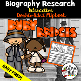 Black History Biography Research Report Flipbbook Ruby Bridges