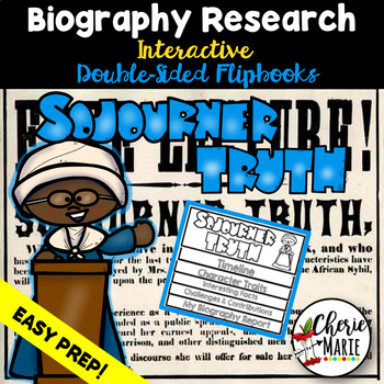 Black History Biography Research Report Flipbbook Sojourner Truth