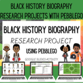Black History Biography Research with PebbleGo Google Slid