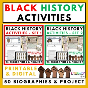 Black History Month Activities BUNDLE Set 1 and 2