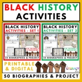 Black History Biography Activities BUNDLE