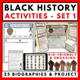 Biography Activities Set 1