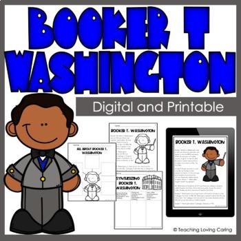 Black History Month Booker T. Washington Activity Set