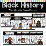Black History Month Activities Emergent Readers Bundle 7 books