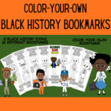 Black History Bookmarks Color Your Own Bookmarks