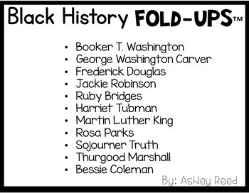 Black History Month Brochures