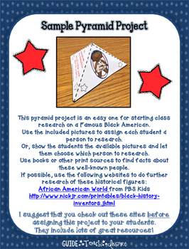Black History Buff Independent Study Project and Pyramid Craft