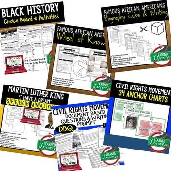 Black History Month Activities Bundle, Black History Bundle