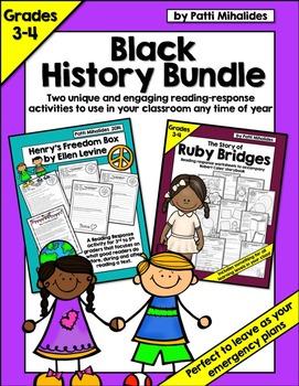 Black History Bundle: Ruby Bridges & Henry's Freedom Box for 3rd/4th Grade