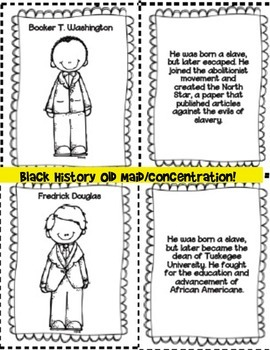 Black History Bundle- Worksheets, Foldables, and Old Maid Game Included!