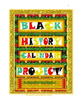 Black History Calendar Writing Project