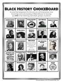 Black History ChoiceBoard (+ Rubric)