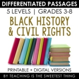 Black History Civil Rights Differentiated Passages Bundle