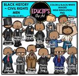 Black History ~ Civil Rights Men Clip Art Bundle {Educlips Clipart}